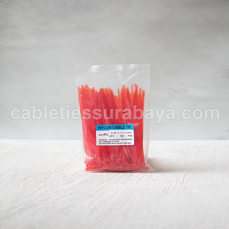 CABLE TIES 3,6 X 150 PINK