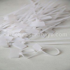 CABLE TIES 2,5 X 100 LABEL B (Label: 20x13mm)WHITE